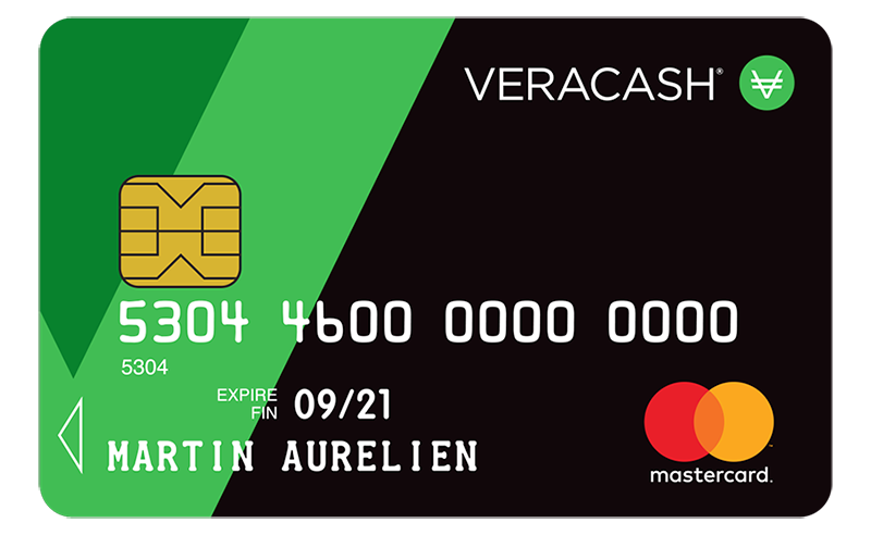 The Vera Cash card, the link between your gold and the world of payments